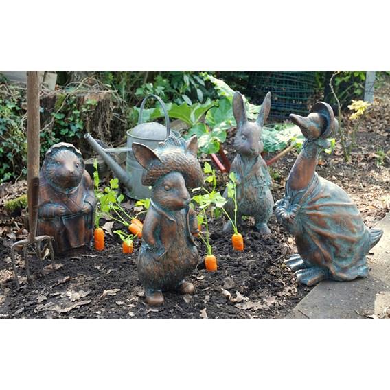Set of 4 'Beatrix Potter' Garden Figures