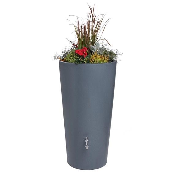 Rain Bowl Flower Water Tank - Blue Grey Granite