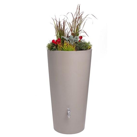 Rain Bowl Flower Water Tank - Taupe