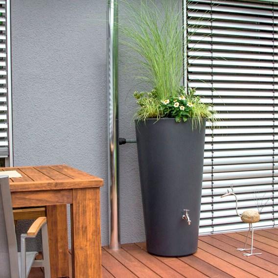 Rain Bowl Flower Water Tank - Slate