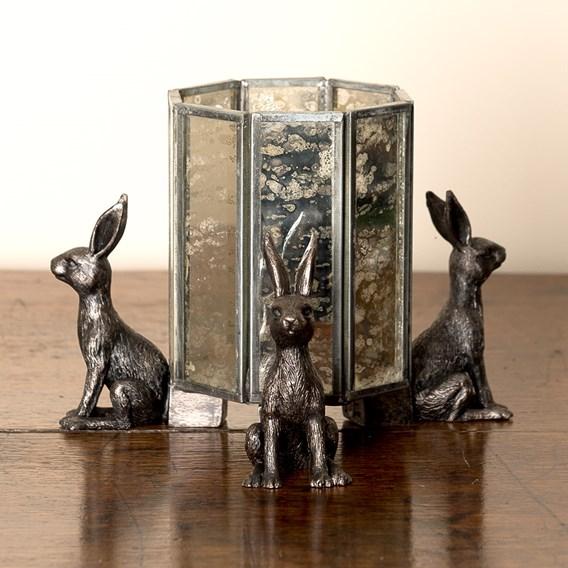 Set Of Three 'Hare' Pot Feet