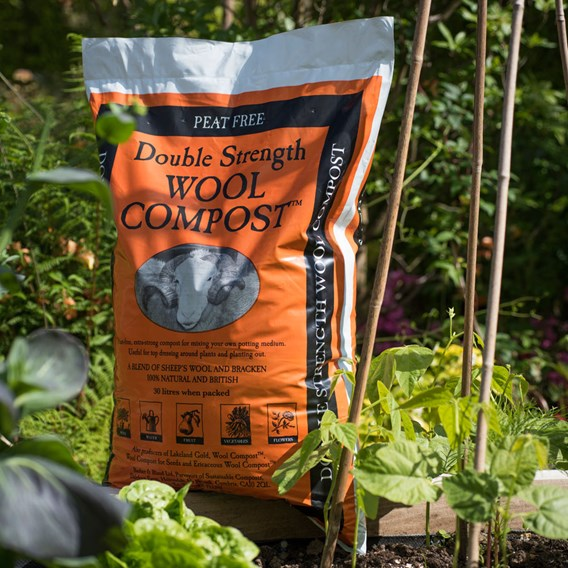 Wool Compost 30 Litres (Double Strength)