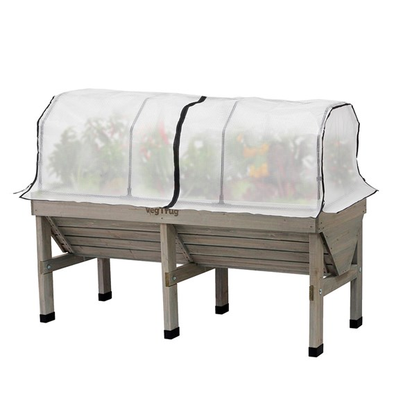 Vegtrug Home Farm Kit - 1.8m Grey Wash with Frame and Cover