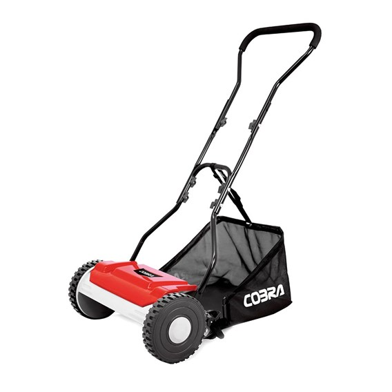 Cobra Hand Lawn Mower 38cm With Grass Bag