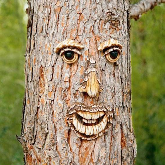 Garden Decorative Tree Face