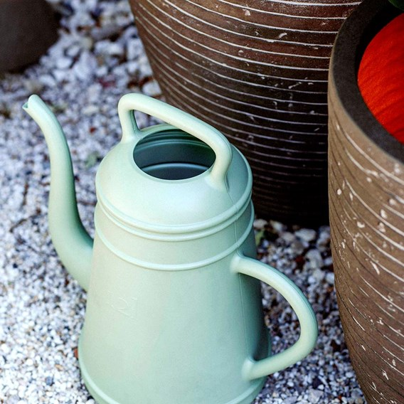 MIH Vase Elegant Low Row 46 x 58  Olive Green