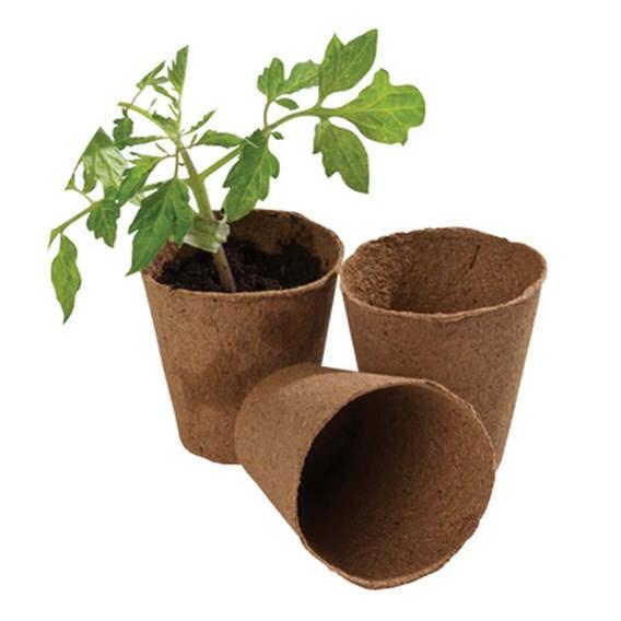 Fibre Pots 8Cm Square Pot