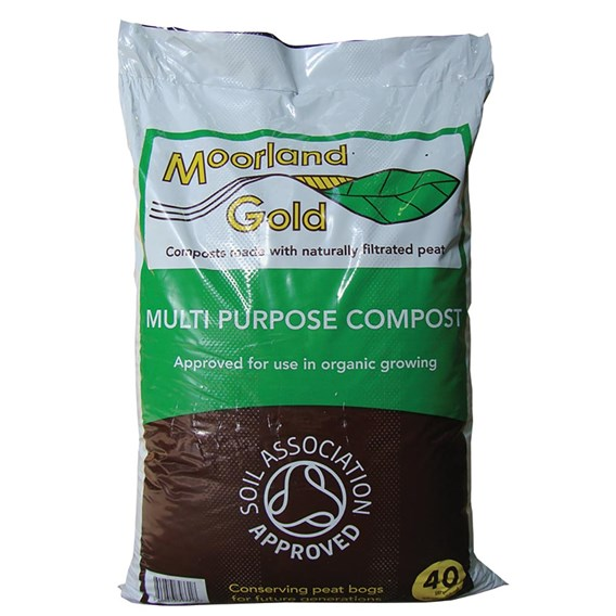 Moorland Gold Multipurpose Compost  - Vegan Friendly (40 Litre)