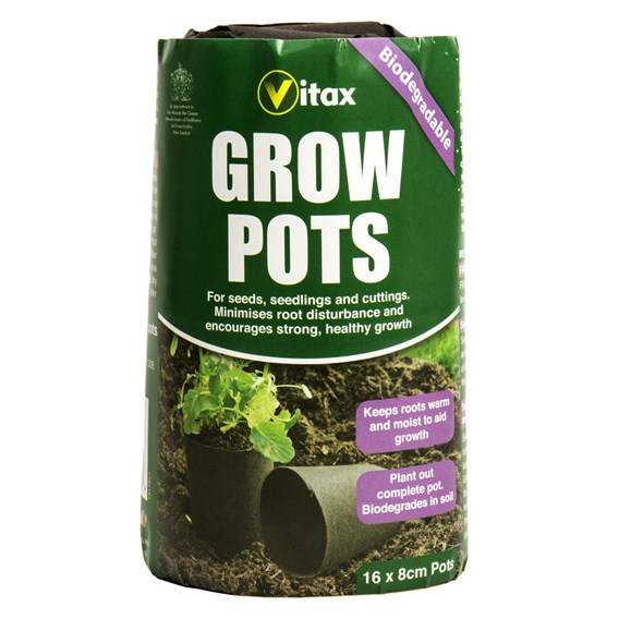 Vitax Grow Pots (Black) - Pack Of 16