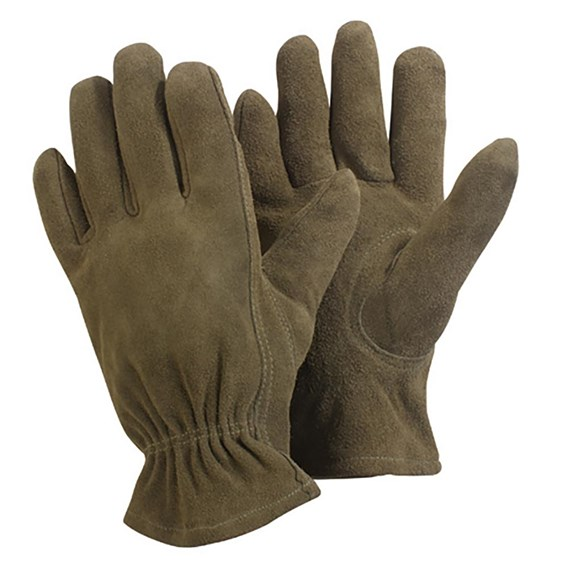 Washable Leather Gloves  Medium  Olive Green
