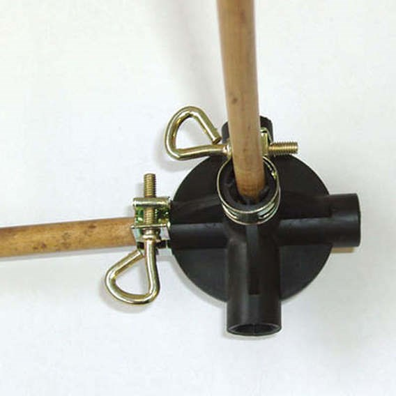 Mini Cane Ball Connectors - Pack 8 + 16 Clamps