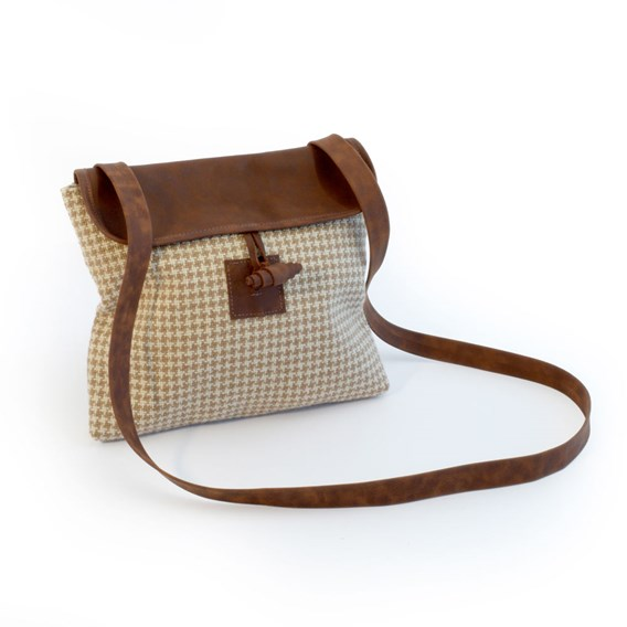 Cross Body Bag Brown houndstooth