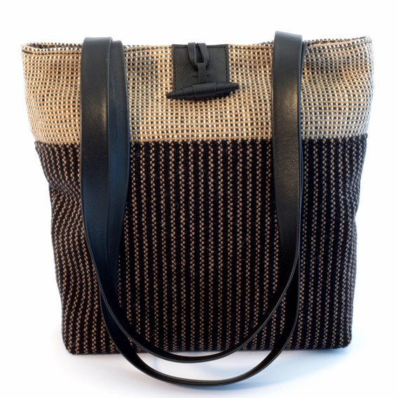 Shoulder Bag Black pinstripe