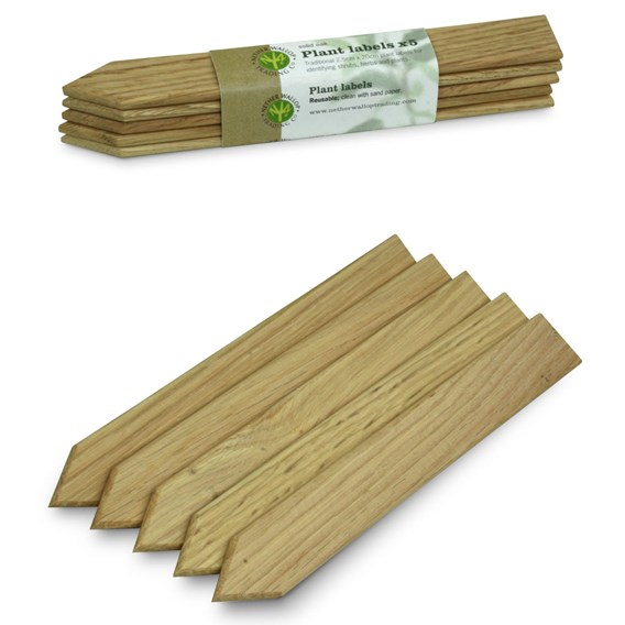 Oak Plant Labels (2 Packs of 5)