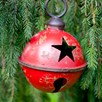 Large Red Star Design Metal Bauble