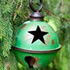 Large Green Star Design Metal Bauble