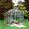 Aluminium Popular 6' x 6' Greenhouse with Horti Glass+Base and Accessories