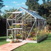 Aluminium Popular 6' x 8' Greenhouse with Horti Glass+Base and Accessories