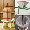 6 Litre Fruit Press Inc Pulp Bag & Fruit Mill Crank Handle