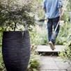 MIH Vase elegant deluxe Rib NL 40x30 black