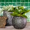 Vase ball Stone 17x14 black